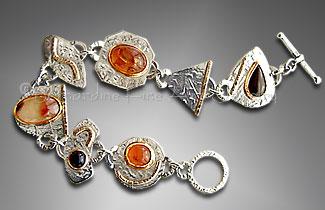 cabochon link bracelet