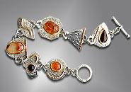agate cabochon bracelet