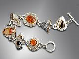 amber cabochon bracelet