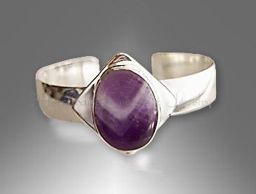 amethyst bracelet cuff