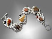 agate link bracelet