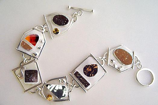 golden drusy link bracelet