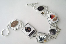 mixed stone druzy bracelet
