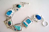 gemstone link bracelet