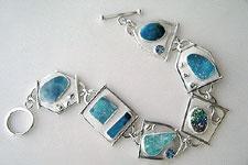 druzy link bracelet