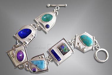Turquoise And Multi Stone Bracelet