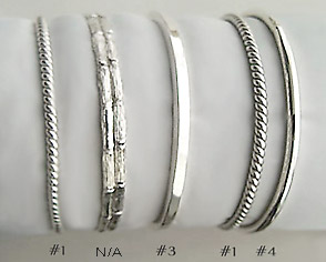 bangle sterling product set hammered grande bangles six products silver il jewellery bracelets of fullxfull