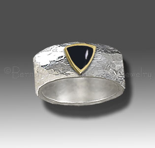 chased silver ring