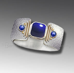 lapis ring with sapphires