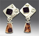 agate drusy earrings
