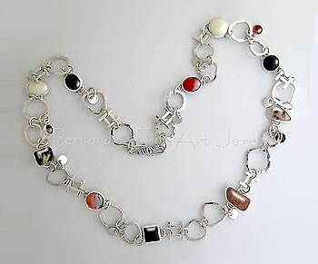 handmade chain with stones