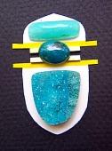 drusy, Peruvian opal, chrysocolla pendant