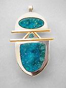 drusy pendant