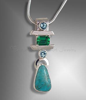 custom emerald pendant