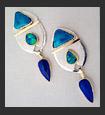 gold, silver & gemstone earrings