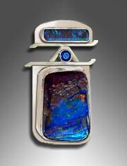 Boulder Opal, Sapphire