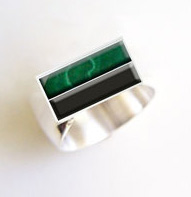 custom men's onyx ring design