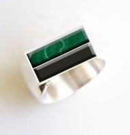 custom men's onyx ring design