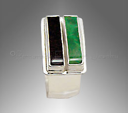 men's malachite ring
