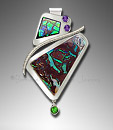 ammolite opal pendant