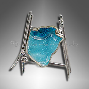 chrysocolla druzy pendant