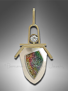 gold drusy pendant