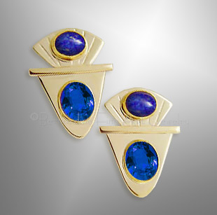 gold sapphire earrings