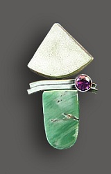 variscite drusy pendant