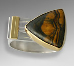 man's tiger eye ring