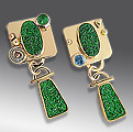 drusy uvarovite earrings