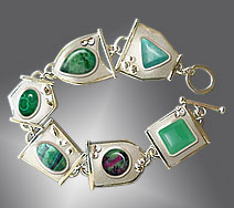 bracelet with chrysoprase