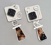 drusy agate earring design