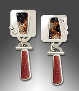 Carnelian drusy earrings