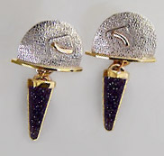 drusy earring design