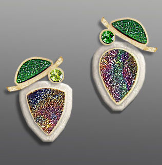 Uvarovite Drusy Earrings