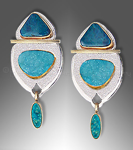 chrysocolla drusy earrings - Earring Design Ideas