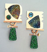 uvarovite earring design