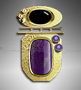 sugilite /amethyst gold pendant