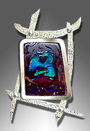 koroit opal pendant