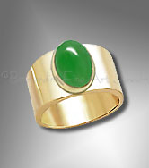 mens gold jade ring