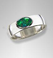 mens opal ring