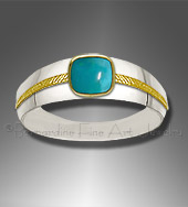 chrysocolla men's ring