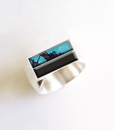 Ring Design Ideas aquamarine oval sunburst ring Turquoise And Onyx Ring