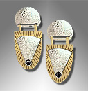 gold silver earrings