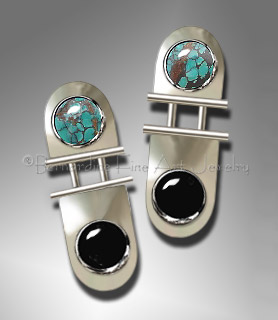 turquoise onyx earrings
