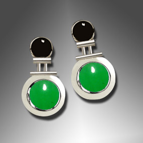onyx and jade earrings
