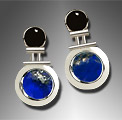 Onyx and Lapis Lazuli Earrings