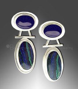 Azurite / Malachite earrings