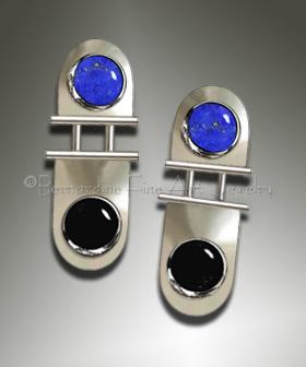 lapis silver earrings