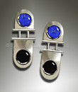 onyx and lapis earrings